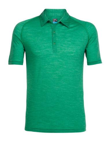 leichtes Herrenshirt aus feiner Wolle ICEBREAKER-Mens Sphere Short  Sleeve Polo