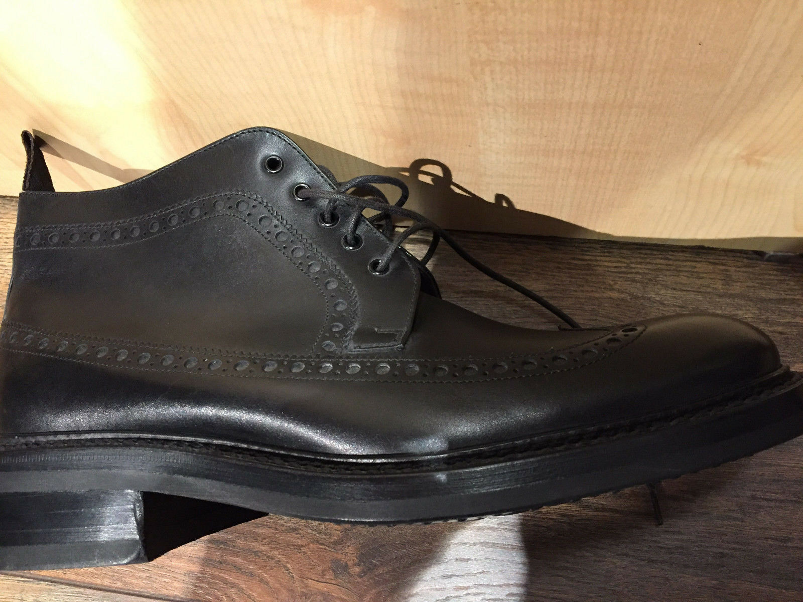 bottes Chaussures Cuir FRANCESCHETTI taille 41 NEUF    479,00 Euro  NOIR