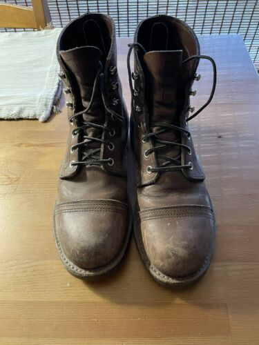 RED WING HERITAGE BOOTS - IRON RANGER - COPPER - 6