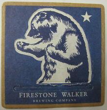 FIRESTONE WALKER BREWING, BEAR (POP-UP) Beer COASTER, Mat, CALIFORNIA 2013, Lion