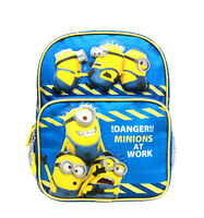 Despicable Me Minions Boys 10 Blue School Backpack - Danger Minions At Work