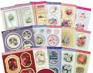 15 Hunkydory Pop a Topper Let's Fabulous Florals 160mm x 160mm Sheets NEW
