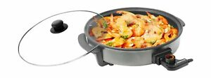 Ovente-Round-Electric-Frying-Pan-Skillet-Granite-with-Tempered-Glass-Lid-and
