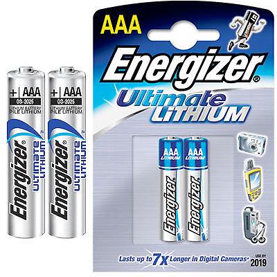 4x Energizer AAA ULTIMATE LITHIUM BATTERIEN LR03 LR3 MICRO 1260 mAh - 1,5V , L92