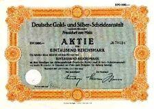 Lot 10 Degussa Deutsche Gold - und Silber - Scheideanstalt Frankfurt Aktien 1942