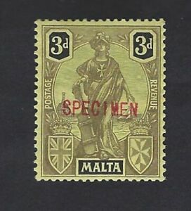 Rare-Malta-1922-KGV-3d-Melita-mint-stamp-Overprinted-SPECIMEN-unsure-if-genuine