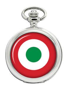 Italienische-Air-Force-Scheibe-Aeronautica-Militare-Taschenuhr