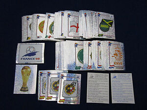 Panini-WM-WK-WC-1998-WorldCup-France-98-pick-1-badge-sticker-1-Wappen-auswahlen