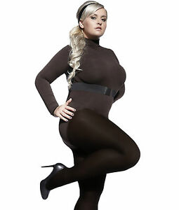 6956d935794 Image is loading PLUS-SIZE-TIGHTS-PERLA-40-DENIER-HOSIERY-COMFORTABLE-