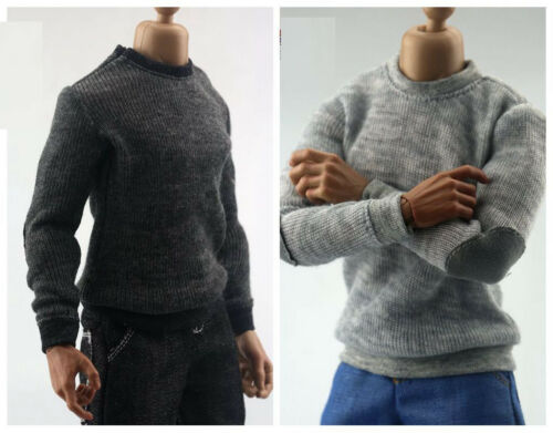 """1//6 Sweater Model Long sleeve T-shirt Clothes Set F 12/""""Male Figure Body"""
