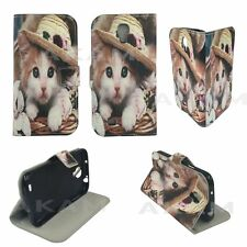 PU Leather Cute Kitty Book Wallet Flip Case Cover For Samsung Galaxy S4 i9505