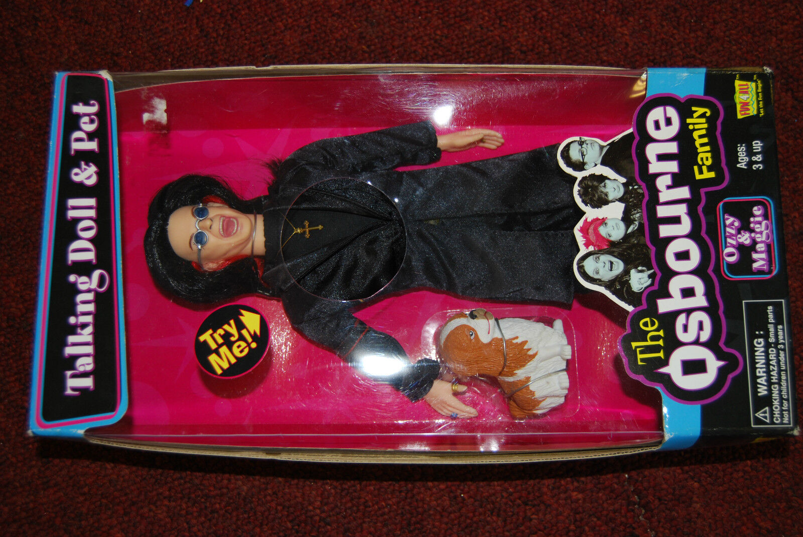 Ozzie Osbourne With Pet, Collectable Doll