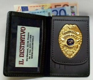 selezione premium f8116 4ca52 Dettagli su PORTAFOGLIO PORTATESSERA VIGILANZA PRIVATA PORTA TESSERA  SICUREZZA DISTINTIVO