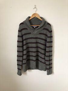 Size-Medium-Fat-Face-Grey-Knit-Sweater-Pullover-Lambswool-Jumper-B2