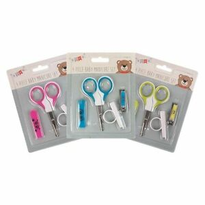4 PIECE BABY NEW BORN 1ST YEAR HAIR & NAIL CLIPPERS GROOMING ,MANICURE SET 5050577041154