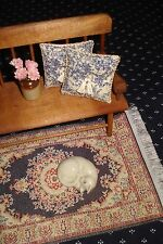 """Lot of 2 - Toile Pillows Doll House 1 :12 Scale - Mini Blue Toile 1 1/2 """""""
