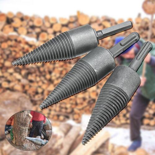 32MM Steel Log Wood Splitting Split Electric Hammer Drill Splitter Cone Driver