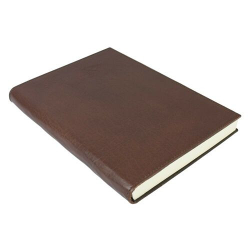 Large Papuro Firenze Leather Journal Chocolate