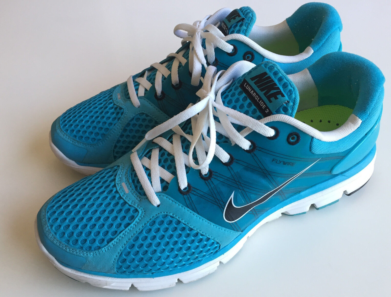 Nike Lunar Gluide 2 Blue Men's Sz 12 Running Shoes NDS