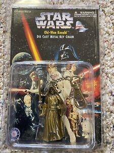 STAR WARS   Obi-Wan Kenobi Die Cast Metal Keychain PLACO TOYS 1997