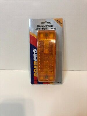 RoadPro RP-21002A Amber 6 x 2 Sealed Light with Reflective Lens