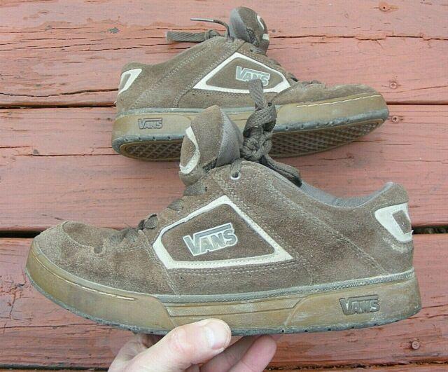 Vintage Suede Leather VANS Bushnell Skateboard BMX Sneakers Shoes Size 9.0 Brown