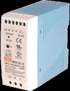Mean Well MDR-60-12 Hutschienennetzteil 60W 12V 5,0A Schaltnetzteil slim 40mm CV