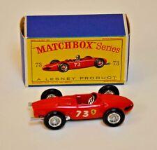 Matchbox Regular Wheels #73, Ferrari Racing Car with D Box, no driver