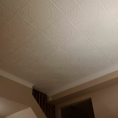 Polystyrene Decorative Ceiling Tile Diy Popcorn Cover 96 Pcs 260 Sq Ft Rm 28 Ebay