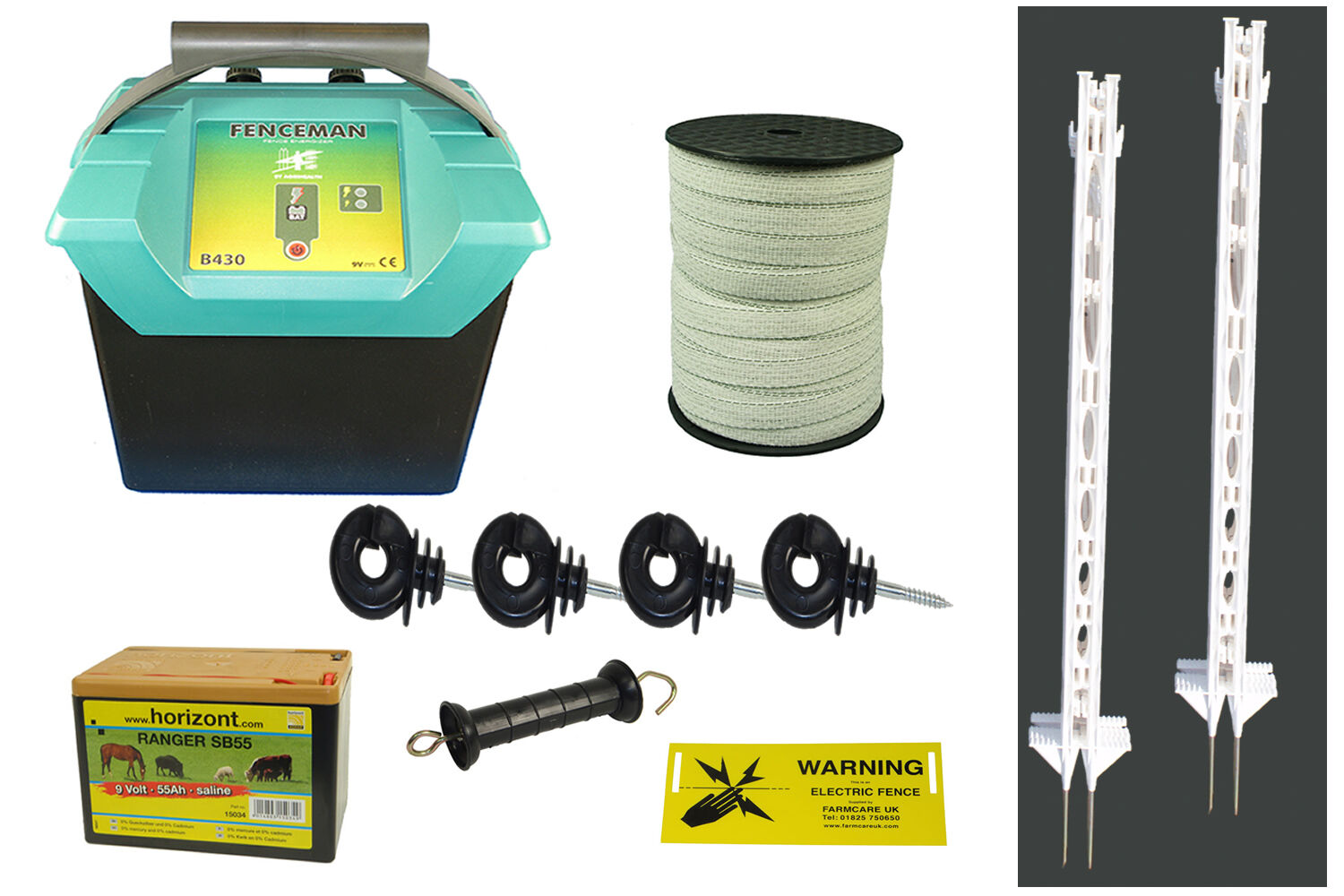 Electric Fencing   Fence Equine PLUS Starter Kit - 4FT POSTS -  Free P&P