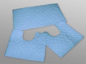 Set parure tappeto tappeti bagno cm 50x90 giro water bidet azzurro