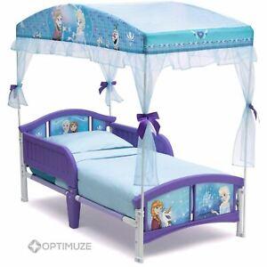 Details about Delta Children Disney Frozen Toddler Princess Canopy Bed Kids  Bedroom Furniture