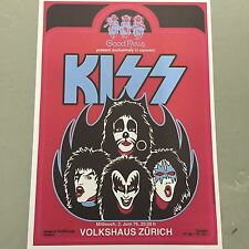 KISS - CONCERT POSTER - VOLKSHAUS ZURICH SWITZERLAND 2ND JUNE 1976 (A3 SIZE)