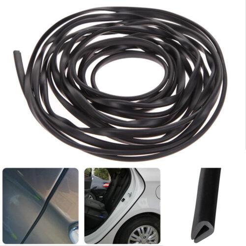 200cm Black U Shape Rubber Strip Car Door Edge Protection Moulding Trim Cover