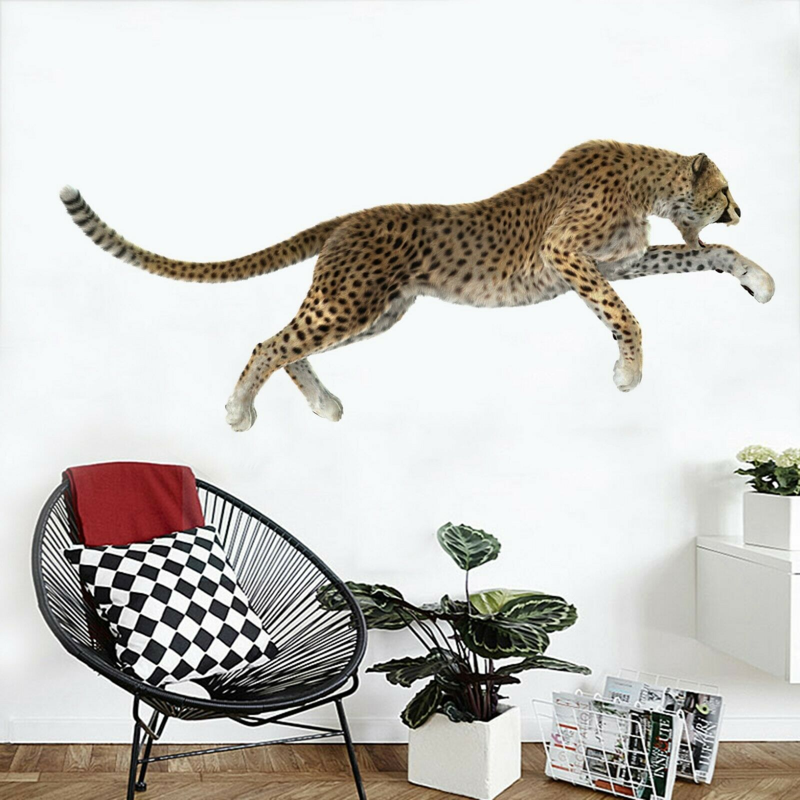 3D  Leopard I73 Animal Wallpaper Mural Poster Wall Stickers Decal Angelia