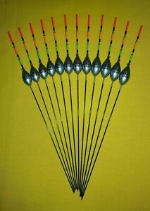 *BARGAIN* 12 x Assorted High Quality Pole Fishing Floats Pack 314R//Y12