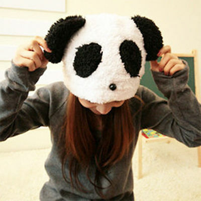 Cute Soft Beanie Panda Pattern Hats Warm Winter New Women Plush Caps Cold-proof