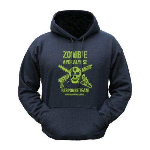Homme zombie apocalypse outdoor hoodie à capuche pull noir