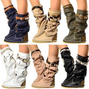 Details zu Damen Indianer Stiefel Boots Ibiza Boots MADE IN ITALY Echtleder KIKKILINE Romy