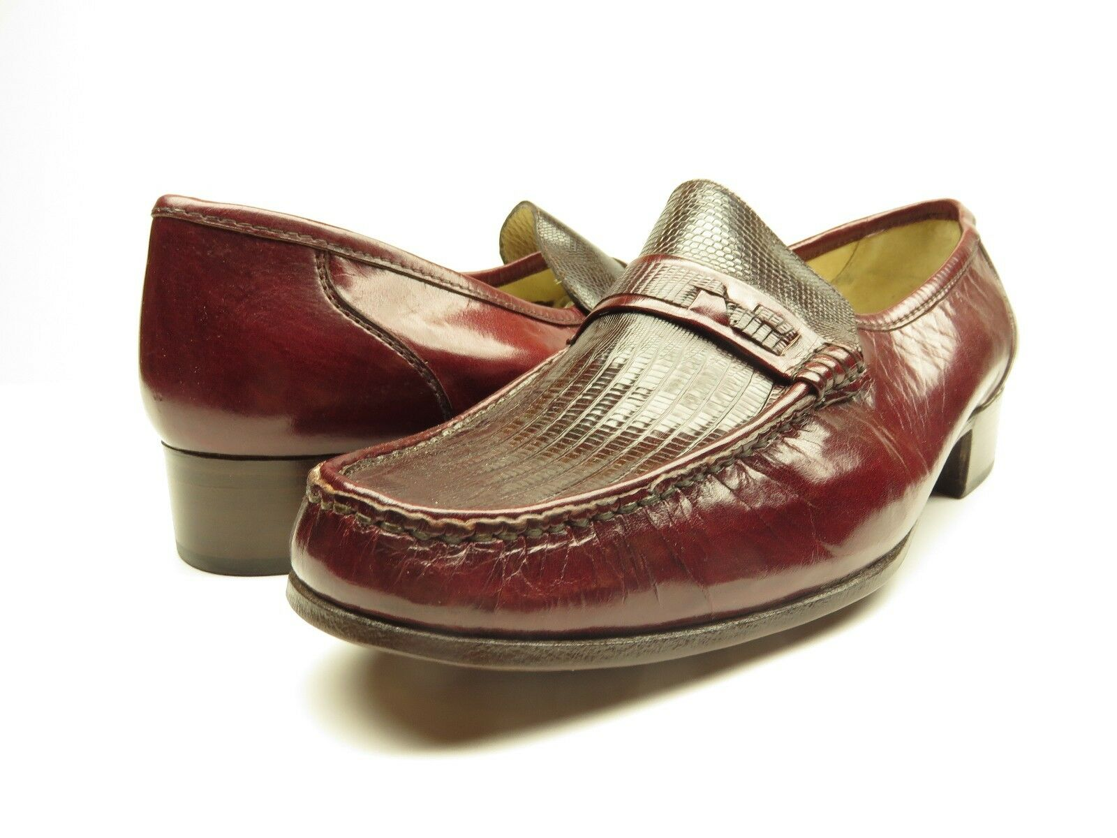 NEW Nettleton Slip-on Loafer Dress shoes Burgandy Size 10 M MADE IN ITALY