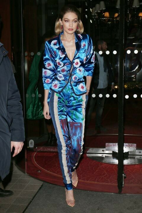 Andreas Kronthaler Vivienne Westwood rare bluee Satin Trousers Worn By Gigi Hadid