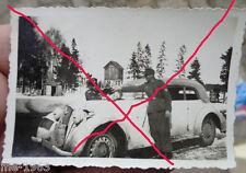 original  Foto  1944 Russland  31 ID Löwen Wappen weiß getarnt