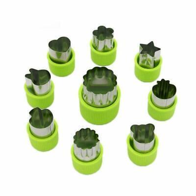 9 Stück Edelstahl Ausstechformen Gemüse Obst Ausstecher Tiere Form Gemüseschneid