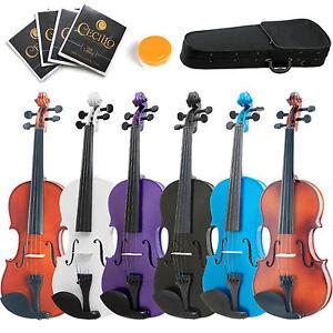 Mendini-16-034-15-034-14-034-13-034-12-034-Acoustic-Viola-Natural-Wood-Black-Blue-Purple-White