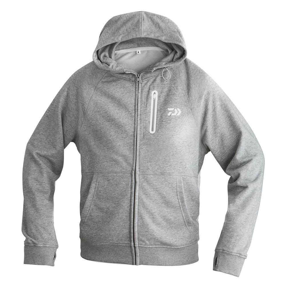 Daiwa sweatjacke D-vec Hoodie gris suéter ropa de vestir chaqueta algodón