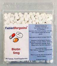 Tablet Bargains - Biotin 5mg - 360 Tablets