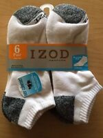 6 Pair Izod Performx Mens Ankle Socks Arch Support 6-12 Athletic