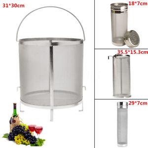 Image is loading Homebrew-Beer-Wine-Brewing-Mesh-Grain-Basket-Dry-
