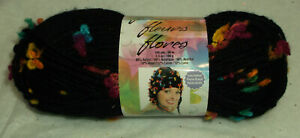FLOWERS Premier YARN new FRUIT PUNCH navy 1692 bulky 2 partial skeins 6.5 ounces