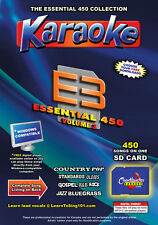 Chartbuster Essential 450 Karaoke Songs Vol 3 SD Card or USB CDG Music 4 PL